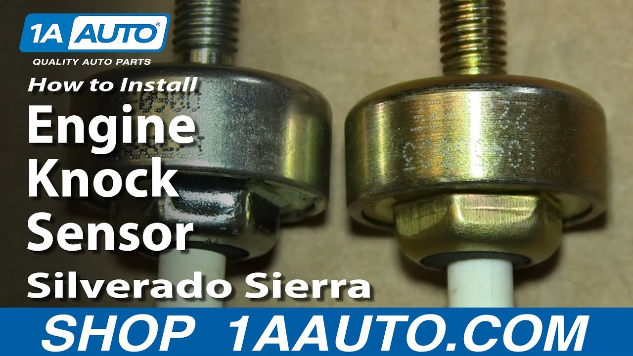 How To Install Replace Engine Knock Sensor 200006 53L Silverado Sierra Suburban Tahoe Yukon