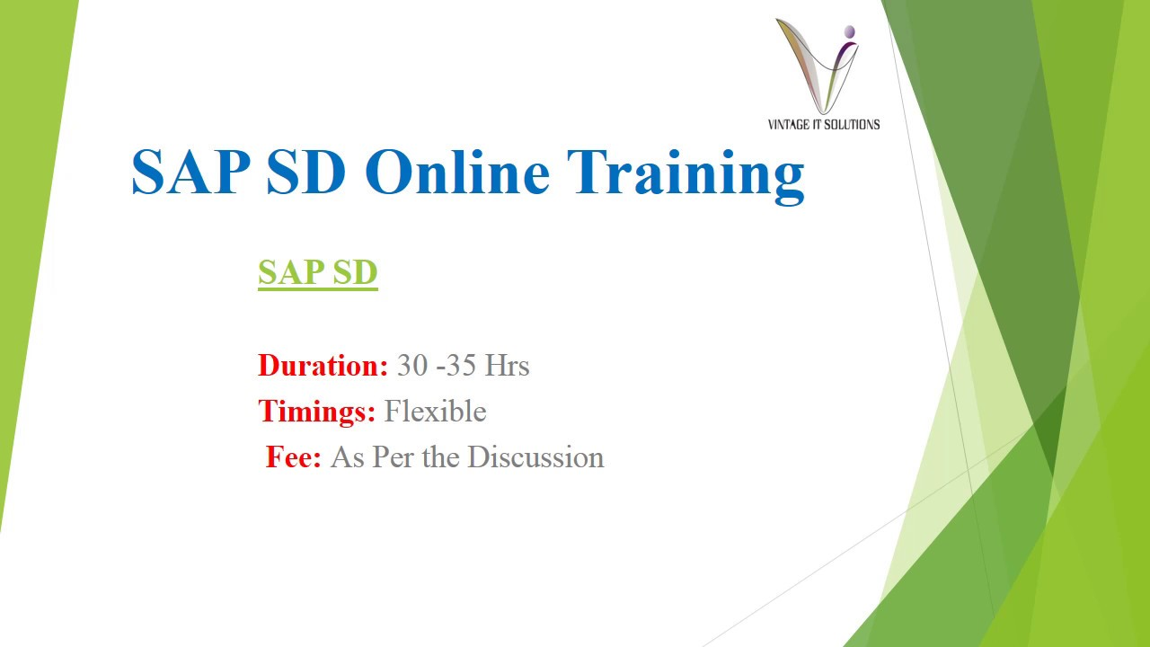 SAP SD Course Content Video | SAP SD Online Training