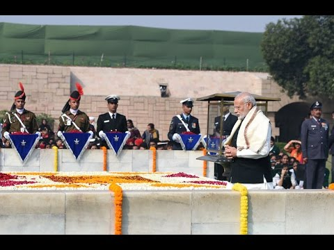 President, VP, PM pays tributes to Father of the Nation Mahatma Gandhi at Rajghat