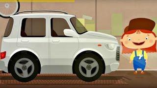 Çizgi film - Doktor Mac Wheelie - Beyaz araba