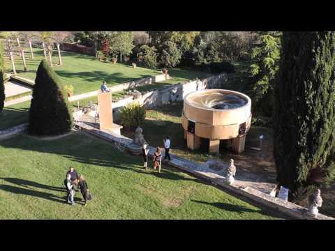"""Vortex"" 2015, giant whirlpool, an artwork by Martin Werthmann"
