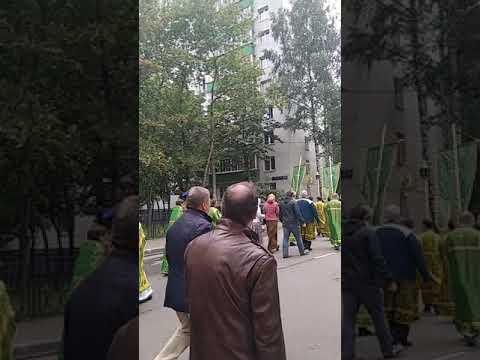 Крестный ход .Храм Серафима Саровского в Кунцево.1 августа 2019г.Престольный праздник.