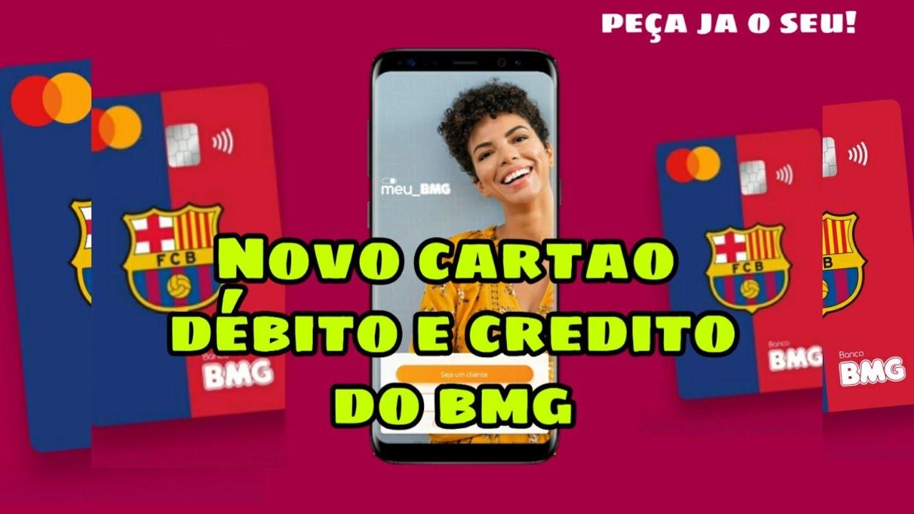 CARTAO BARCELONA DEBITO E CREDITO  DO BMG |COMO SOLICITAR O SEU