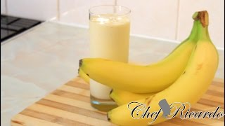 Ice Cream Smoothie - Kids Smoothie Drink Vanilla Ice Cream And Banana -Summer Time | Recipes By Chef Ricardo
