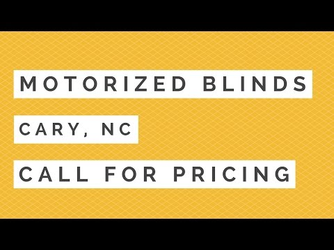 Motorized Blinds Cary | Best Cary NC Motorized Window Treatments
