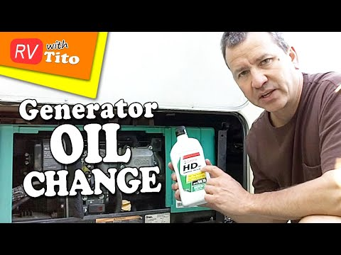 how to change the oil in your onan rv generator youtube rh youtube com Onan Generator Schematic Onan Generator Parts Lookup