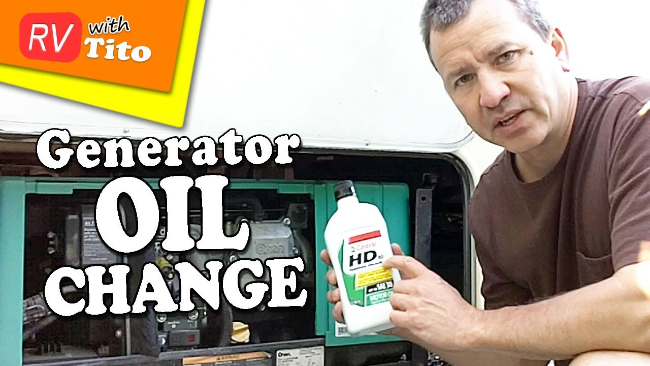 how to change the oil in your onan rv generator [ 1280 x 720 Pixel ]