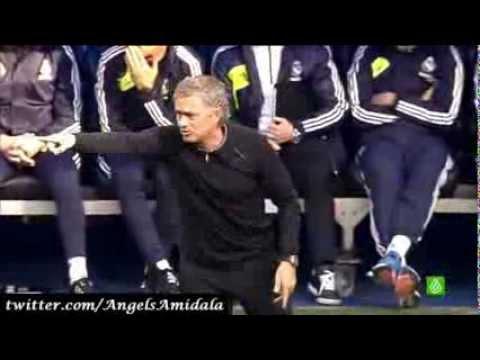 José Mourinho durante el Real Madrid 2 - 1 Barcelona