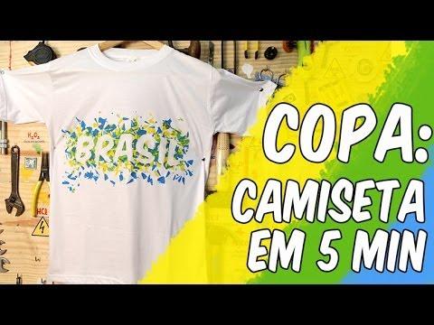 Faça camiseta para a Copa em 5 min sem gastar nada (reciclagem ... 9065638fb545c