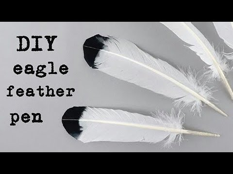 How to make a feather pen