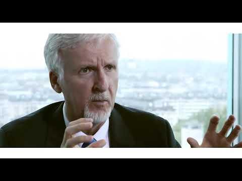 James Cameron en el Making of del reloj Rolex Deepsea Challenge