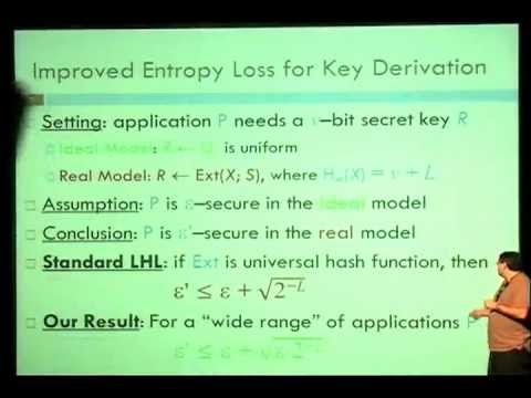 Leftover Hash Lemma, Revisited (Crypto 2011)