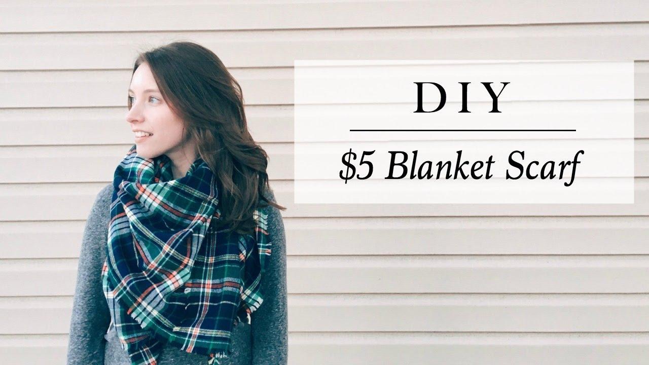 DIY NO SEW BLANKET SCARF || Katie Bookser - YouTube