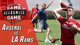 L.A. Rams Jared Goff Faces Off Against Premier League Powerhouse Arsenal's Granit Xhaka