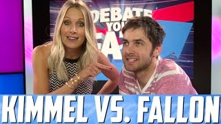 Repeat youtube video JIMMY KIMMEL VS. JIMMY FALLON - Debate Your Fate