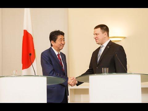 Eesti ja Jaapani peaministrite ühised pressiavaldused, 12. jaanuar 2018