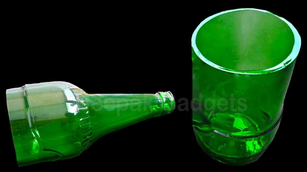 How to Cut a Glass Bottle in 3 Simple ways at home - YouTube