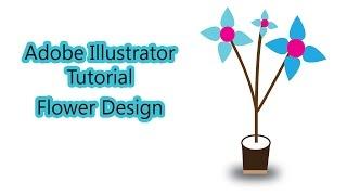 Adobe illustrator Tutorial | Flower Design