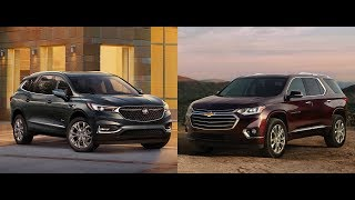 2018 Chevrolet Traverse vs Buick Enclave 2018