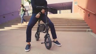 SwagCycle Pro Folding Electric Bike, Pedal Free and App Enabled, 18 mph E Bike with USB Port