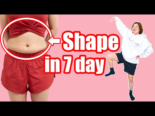 [7 days] Shape belly fat right now! Lose fat while standing! お腹の脂肪を立ったまま落とす!