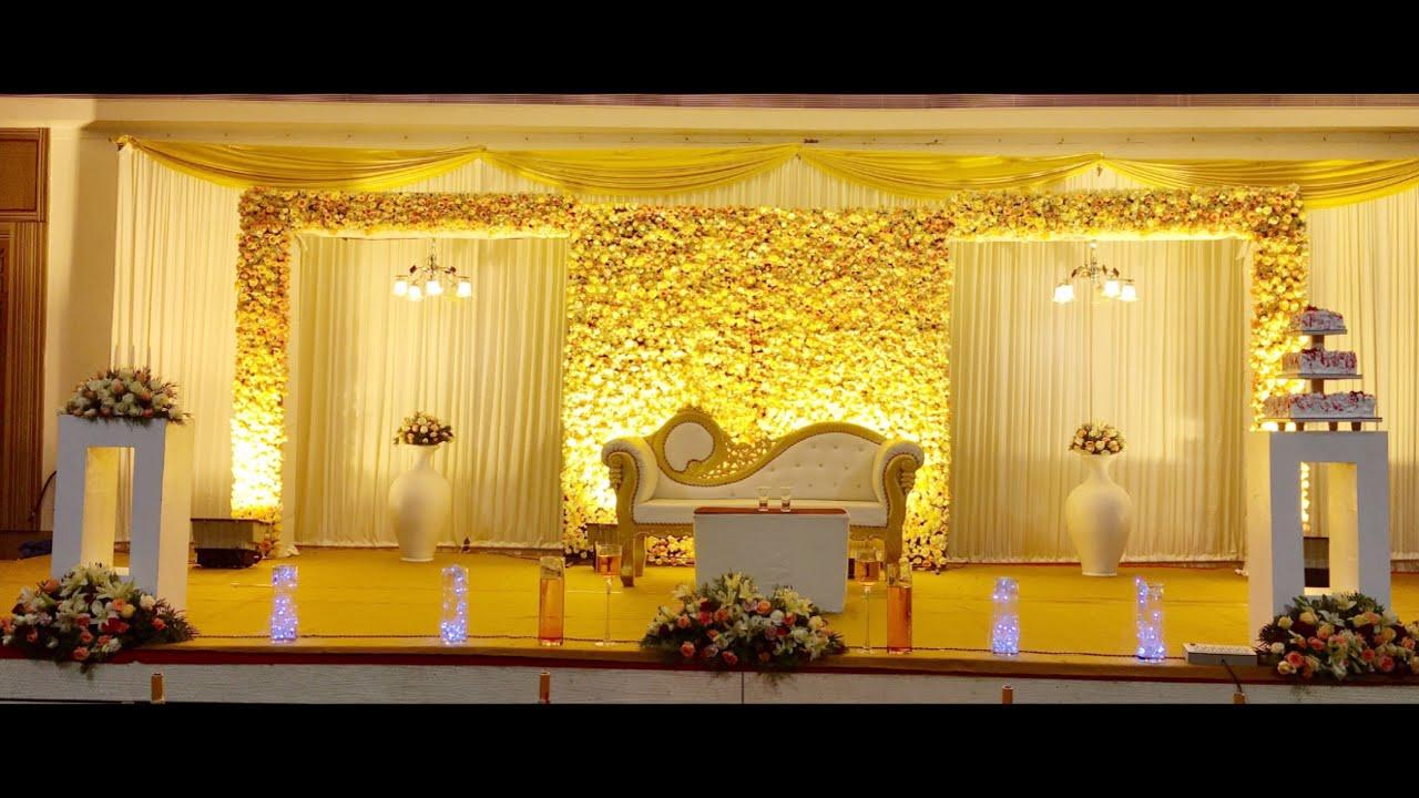 Kerala Wedding stage decoration - YouTube