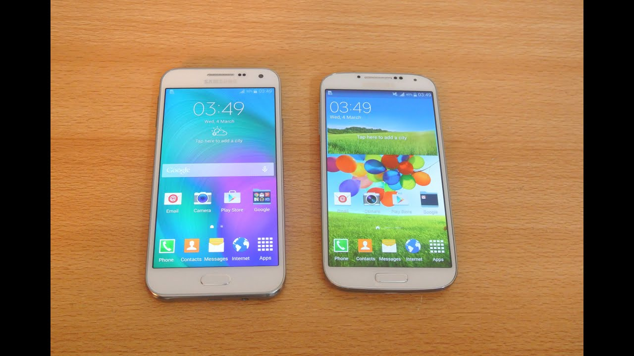 Samsung Galaxy E5 vs Samsung Galaxy S4 - Full Comparison HD - YouTube