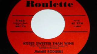 "Jimmy Rodgers ""Kisses Sweeter Than Wine"" 45rpm"