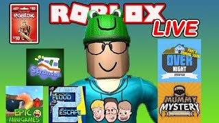 Roblox LIVE with Schlamaddy | Overnight, Stranded Ending & More | Robux Giveaway | Family Friendly
