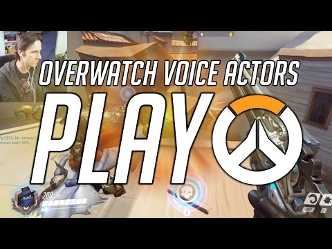 THE VOICES OF MCCREE, WINSTON & LUCIO PLAY OVERWATCH!!