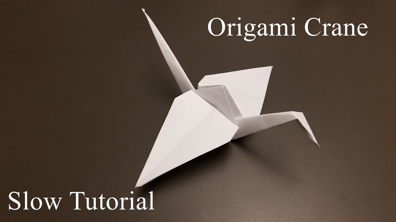 how to make a paper crane instructions