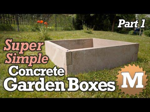 DIY Simple Concrete Garden Box - PART 1 - Make the Forms