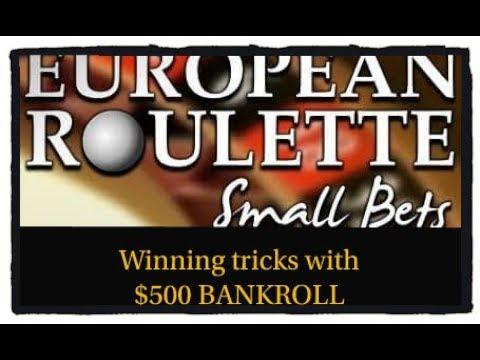 Small BANKROLL ($500) Roulette WIN Tricks