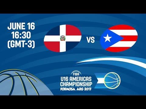 Dominican Republic vs Puerto Rico - Group B - FIBA U16 Americas Championship