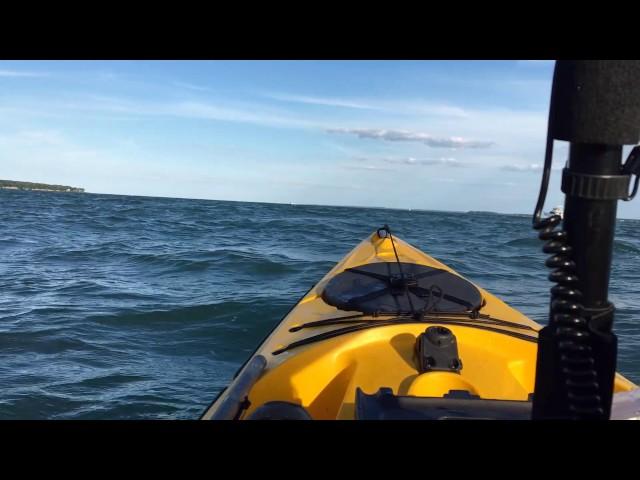 Lake Erie Swell in Ocean Kayak Trident Ultra 4.7