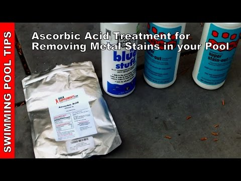 Ascorbic Acid Treatment for Removing Stains in Your Pool
