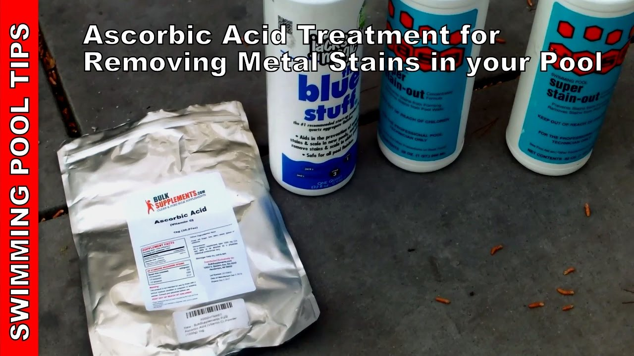 How to Remove and Prevent Metal Stains in a Swimming Pool