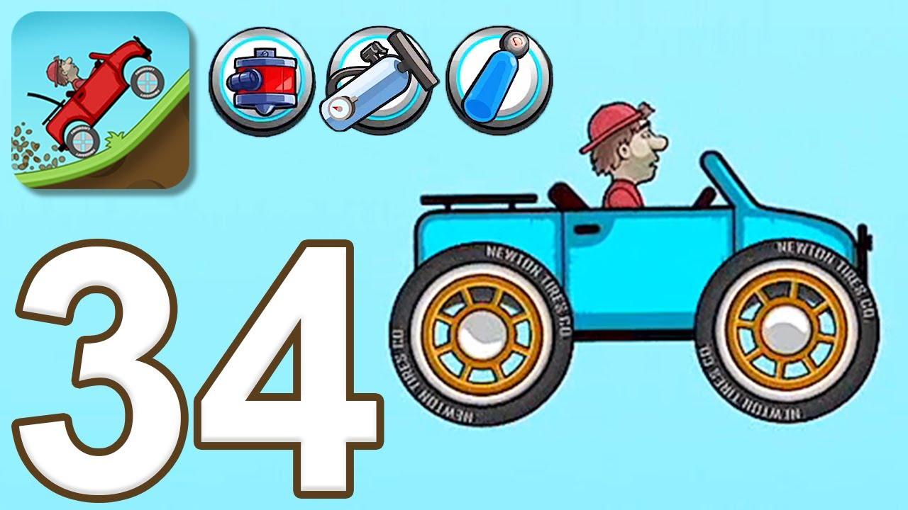 Hill Climb Racing - Gameplay Walkthrough Part 34 - All New Power-Ups and Garage Car (iOS, Android)