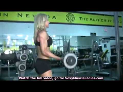 Female Muscles Super Ripped Girl Teenage Bodybuilder Punch Bag