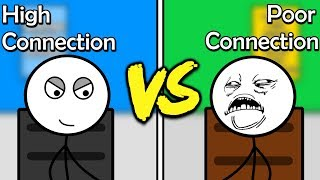 Poor Connection Gamers Vs High Connection Gamers