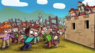 Minecraft Fan Battle - 100 FANS ATTACK ROMAN EMPIRE! (Romans vs Gauls)