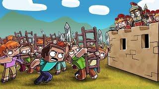 Minecraft Fan Battle - 100 FANS ATTACK ROMAN EMPIRE! (Romans vs Gauls)