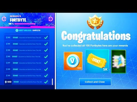 What happens when you COLLECT ALL 100 FORTBYTES in Fortnite.. (Fortbyte Hidden Picture Unlocked)