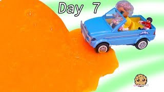 Car Stuck in Slime Trap LOL Surprise & Playmobil Advent Adventure Day 7