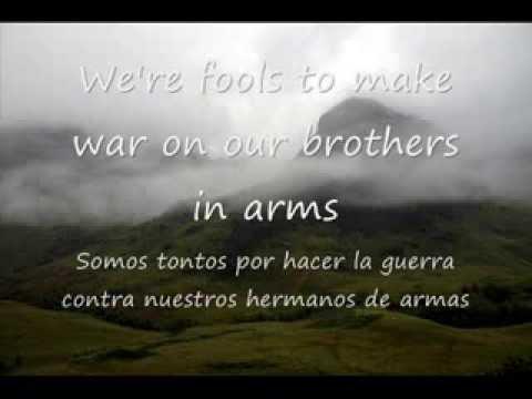 Dire Straits - Brothers in Arms (lyrics + traducción en español)