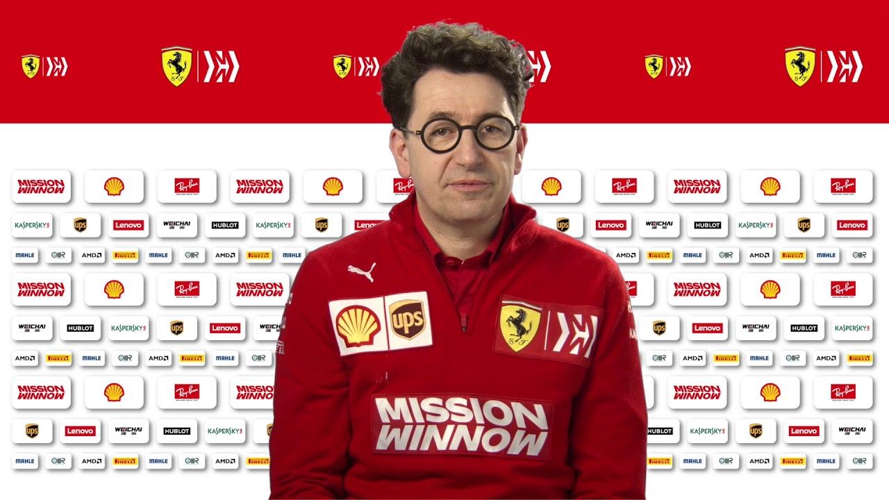 F1 2019 - Ferrari SF90 launch - Interview with Mattia Binotto ...
