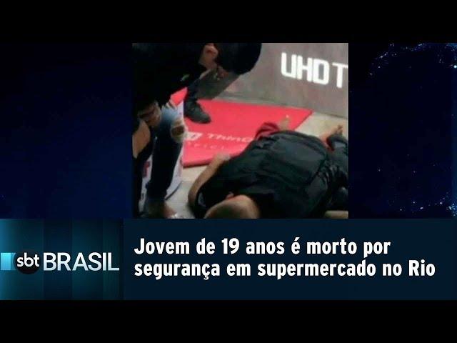 Jovem de 19 anos é morto por segurança em supermercado no Rio | SBT Brasil (15/02/19)