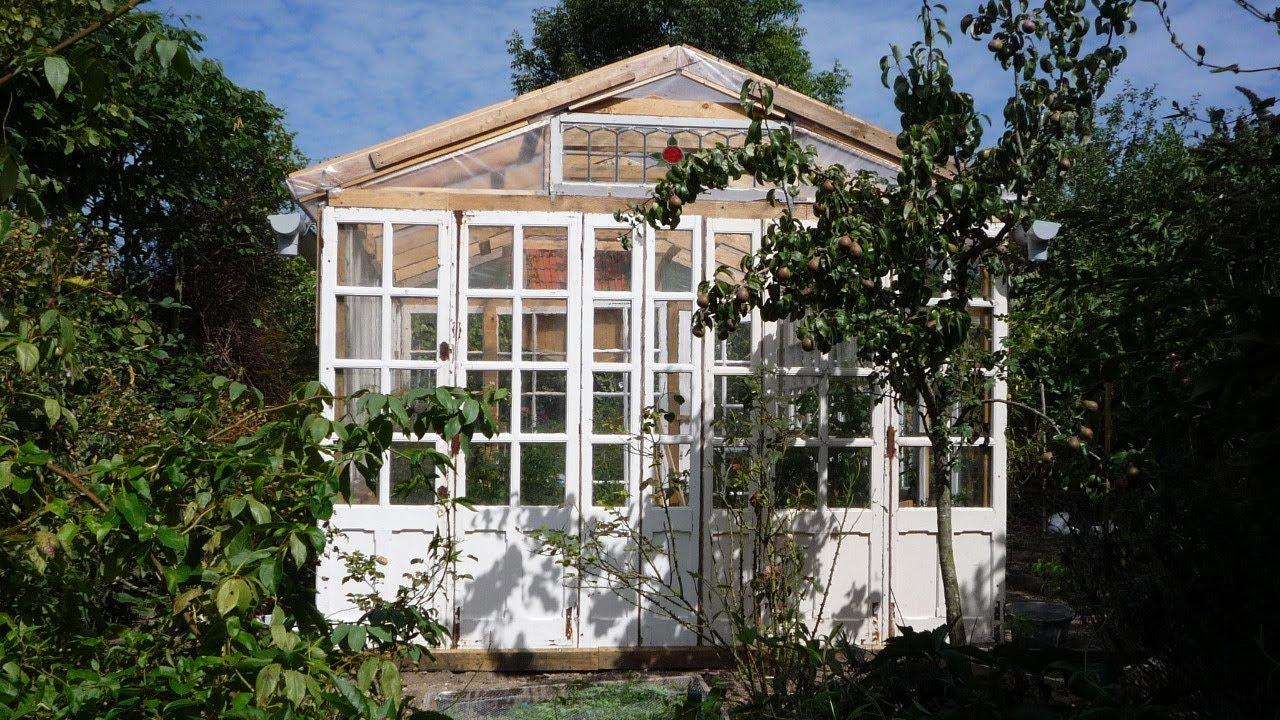 DIY Big Cheap Glass Greenhouse Grande serre en rcup
