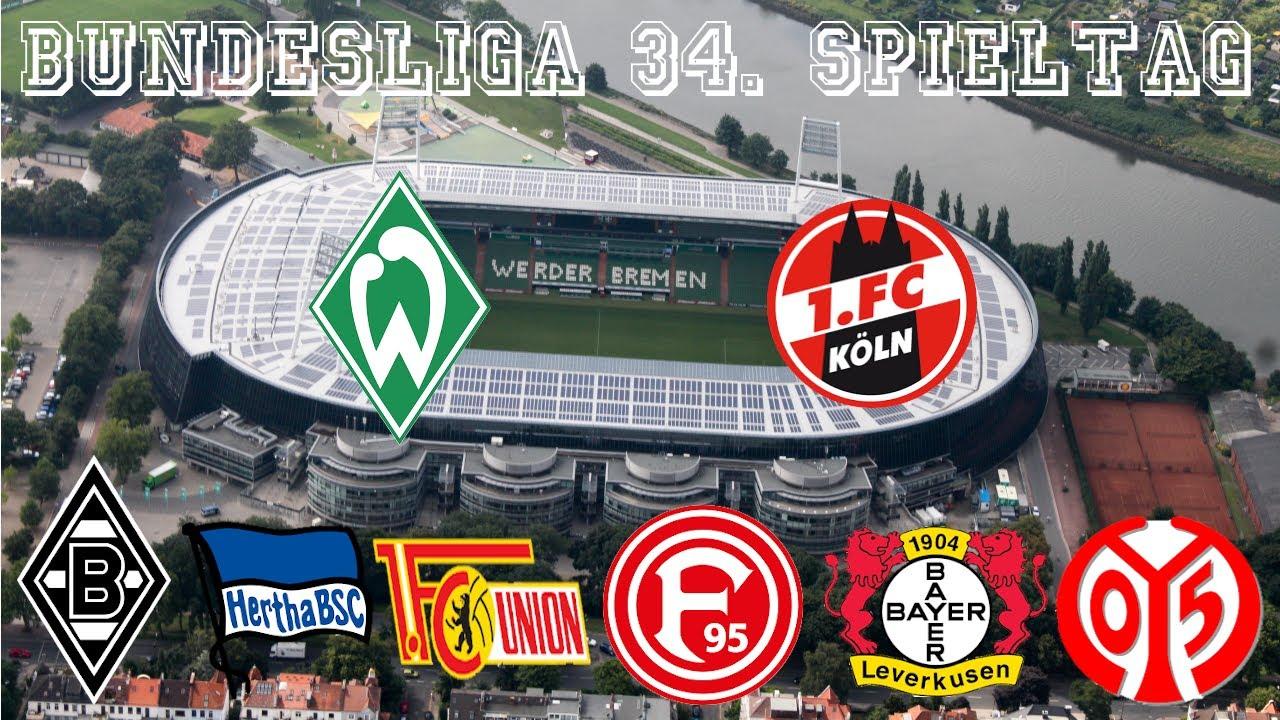 34 Bundesliga Spieltag