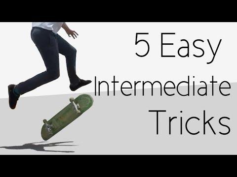 5 Easy Tricks For Intermediate Skateboarders